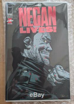 Negan Vies # 1 Rouge Foil Variante (limited Run Très Rare) Walking Dead