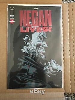 Negan Vies # 1 Variante Rouge Fleuret (2020) Le Plus Rare Walking Dead Jamais Comique