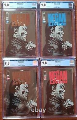 Negan Vit! #1 Cgc 9.8 Silver/bronze Foil / Blue/red Logo Edition Variante Set