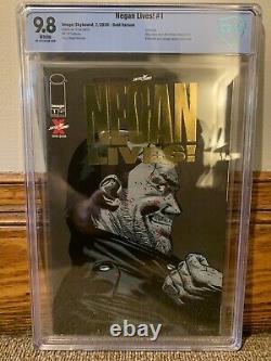 Negan Vit! #1 Gold Foil Variante The Walking Dead Cbcs 9.8