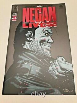 Negan Vit ! #1 Ruby Red Foil Edition, Nm Non Lu, Walking Dead 1 De 500 1/500