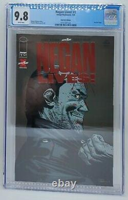 Negan Vit! #1 Ruby Red Foil Variante Cgc 9.8 Nm/mt Rare Walking Dead Ltd 500