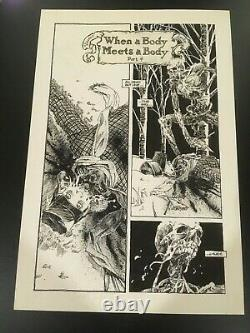 Oa Originale Art! Vincent Locke Deadworld # 13 Pg 20 Splash 12 X 18 Walking Dead