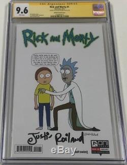 Oni Press Rick Et Morty # 1 150 Variant Signé Par Justin Roiland Cgc 9,6 Ss