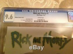 Rick And Morty 1 Cgc 9.6 150 Roiland Variant Livraison Gratuite