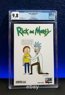 Rick Et Morty # 1 150 Cgc 9.8 Justin Roiland Incentive Variant Nm + Mt Graal