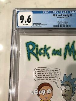 Rick Et Morty # 1 Cgc 9,6 150 Incentive Variante Justin Roiland Graal Nm +