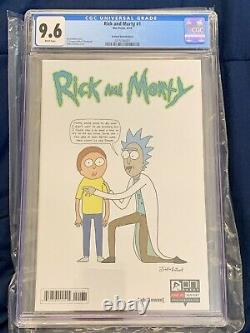 Rick Et Morty #1 Justin Roiland 150 Variante Cgc Classé 9.6 Oni Press