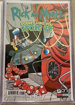 Rick Et Morty # 1 Nerd Bloc Variante Rappelé + 150 Justin Roiland Couverture Paquet