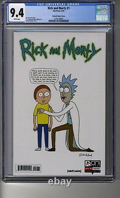 Rick Et Morty (2015) # 1 150 Justin Roiland Ri Cgc 9.4 Pages Blanches
