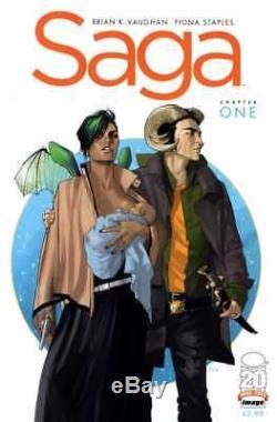 Saga # 1 Comics 1st Print Apparence Image Brian K Film De Vaughn Le Dernier Homme