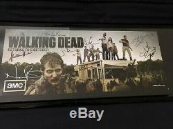 Signe Walking Poster Morte Promo Sdcc 2012 Signé Par Cast Et Kirkman Originale