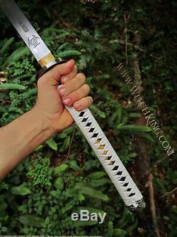 Sous Licence Officielle Amc Michonne Dernière Marche Katana Épée Avivé Real Sword