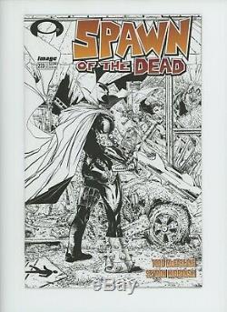 Spawn # 223 Walking Dead Sketch Couverture Todd Mcfarlane Image Comics B & W Variant