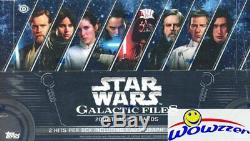 Star Wars 2018 Galactic Topps Fichiers Scellé En Usine Hobby Box-2 Hits Withautograph
