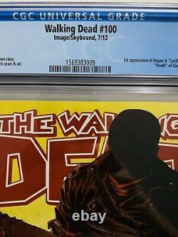 The Walking Dead #100 1er Negan & Lucille, Death Of Glenn Cgc 9.8 Negan Cover