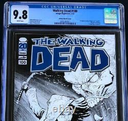 The Walking Dead #100 Cgc 9.8 Ottley Sketch Cover Variante Comixology Comic