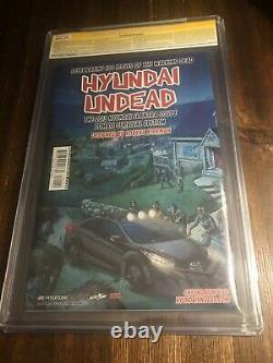 The Walking Dead 100 Cover A 1st Print Negan Cgc 9.8 Signé X2 Kirkman Adlard