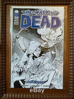 The Walking Dead # 100 Ryan Ottley Noir Et Blanc Croquis Comixology Variante Mint