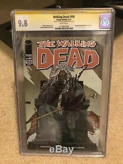 The Walking Dead # 108 Série Cgc Sig 9.8 Kirkman A Signé La 1ère Application Ezekiel & Shiva