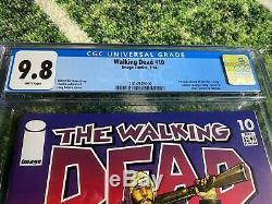 The Walking Dead # 10 Cgc 9.8! Premier Numéro Hershel, Maggie, Billy