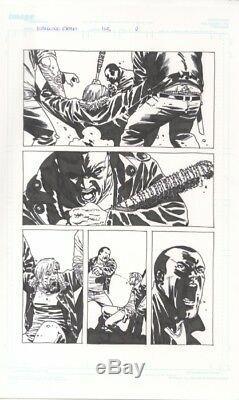 The Walking Dead # 113, Bande Dessinée Originale De Charlie Adlard Par Negan Vs Rick Grimes