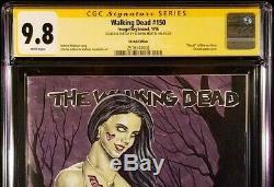 The Walking Dead # 150 Cgc Ss 9.8 Original Art Sketch Zombie Tramp Negan Michonne