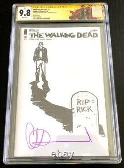 The Walking Dead #192 Cgc 9.8 Ss 2ème Adlard Sketch Death Of Rick Grimes