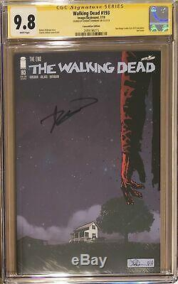 The Walking Dead # 193 Sdcc Variante Cgc 9.8 Ss Final Edition