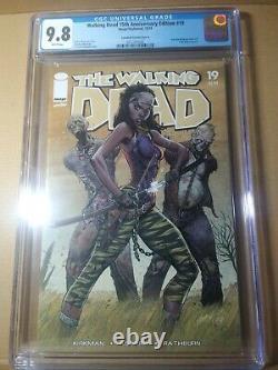 The Walking Dead # 19 Cgc 9.8 Lot Premier Numéro De Michonne