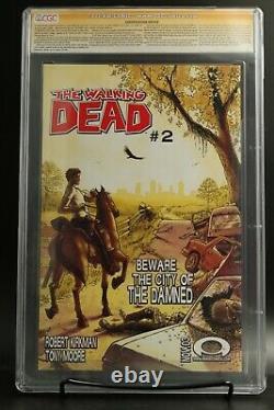 The Walking Dead 1 Cgc 9,6 Image Comics 1ère Impression Signée Par Kirkman/moore
