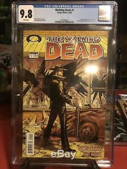 The Walking Dead 1 Cgc 9.8 1ère Impression, 1ère Affaire Cgc Rick Grimes Livraison Gratuite Bin