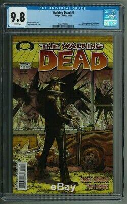 The Walking Dead # 1 Cgc 9.8 Black Label