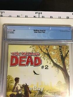 The Walking Dead # 1 Cgc 9.8 Image Robert Kirkman, Première Édition