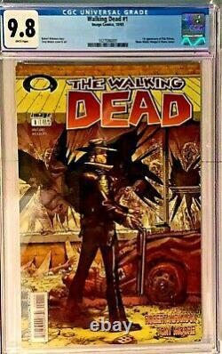The Walking Dead #1 Cgc 9.8 Near Mint/mint Nm/m. Premier (1er) Numéro. Pas De Réserve