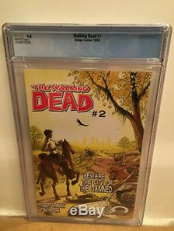 The Walking Dead # 1 Cgc 9.8 Pages Blanches! Image Comics 2003