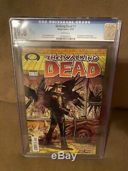 The Walking Dead # 1 Cgc 9.8 Pages Blanches! Image Comics 2003 Copie Belle