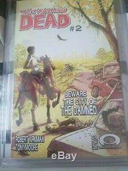 The Walking Dead # 1 Cgc 9.8 Ss Black Label Rick Grimes Sketch Tony Moore