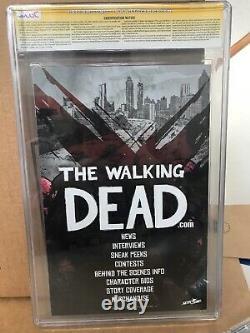 The Walking Dead #1 Cgc Classé 9.4 Signé Par Michael Golden Première Impression