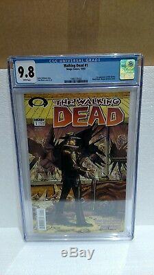 The Walking Dead # 1 Cgc Noté 9.8 Image Comics Pages Blanches 10/03 1ère Application Grimes