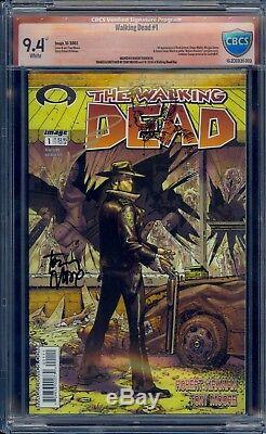 The Walking Dead # 1 Double Signature Et Sketch Cbcs 9.4