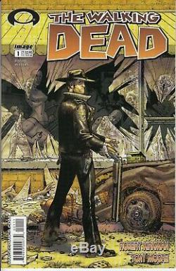 The Walking Dead # 1 Le Vrai # 1 White Label Htf Shane Amc Livraison Gratuite Rick