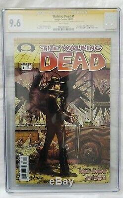 The Walking Dead # 1 Signé Par Kirkman Et Adlard Cgc 9.6 La Première Dernière Marche