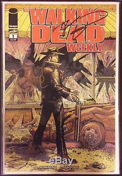 The Walking Dead # 1 Signé Par Robert Kirkman Et Tony Moore Seulement 1 Sur Ebay