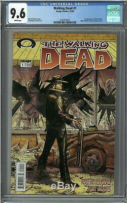 The Walking Dead # 1 (oct 2003, Image) Cgc 9,6 Blanc, Le Premier Rick Grimes