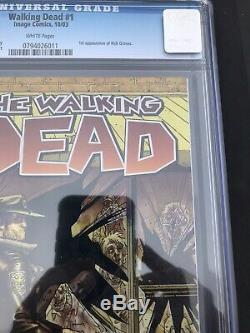 The Walking Dead # 1 (octobre 2003, Image) Cgc 9,6 S'il Vous Plaît Lire La Description