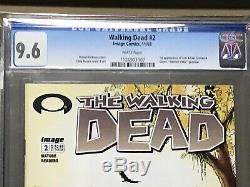 The Walking Dead # 2 Cgc 9.6 De La Première Impression
