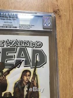 The Walking Dead # 3 == Cgc 9.6 1ère Application D'allen, Donna, Amy Image Comics 2003