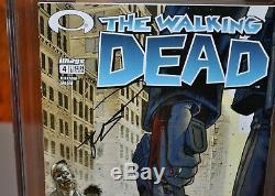 The Walking Dead # 4 (janvier 2004, L'image) Cgc 9.6 Signé Robert Kirkman Yellow Label