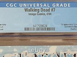 The Walking Dead #7 9.8 Cgc Graded / 1er Aspect De Tyrese